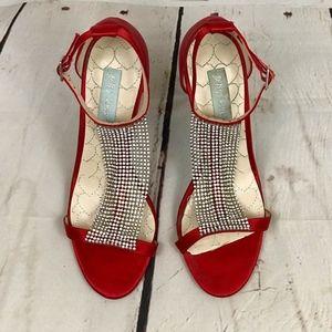 Betsey Johnson | Red Satin Heels